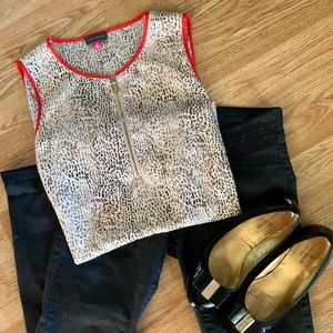 Vince Camuto Animal Print Sleeveless Top